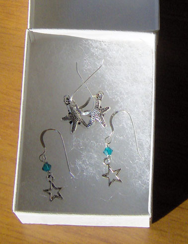 Pretty handmade earrings