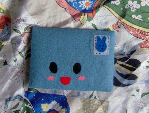 Blue Plush Envelope